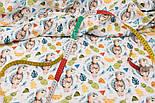 """Хлопок с цифровой печатью """"Черепашки и ананасы"""" на белом № 2276, фото 4"""