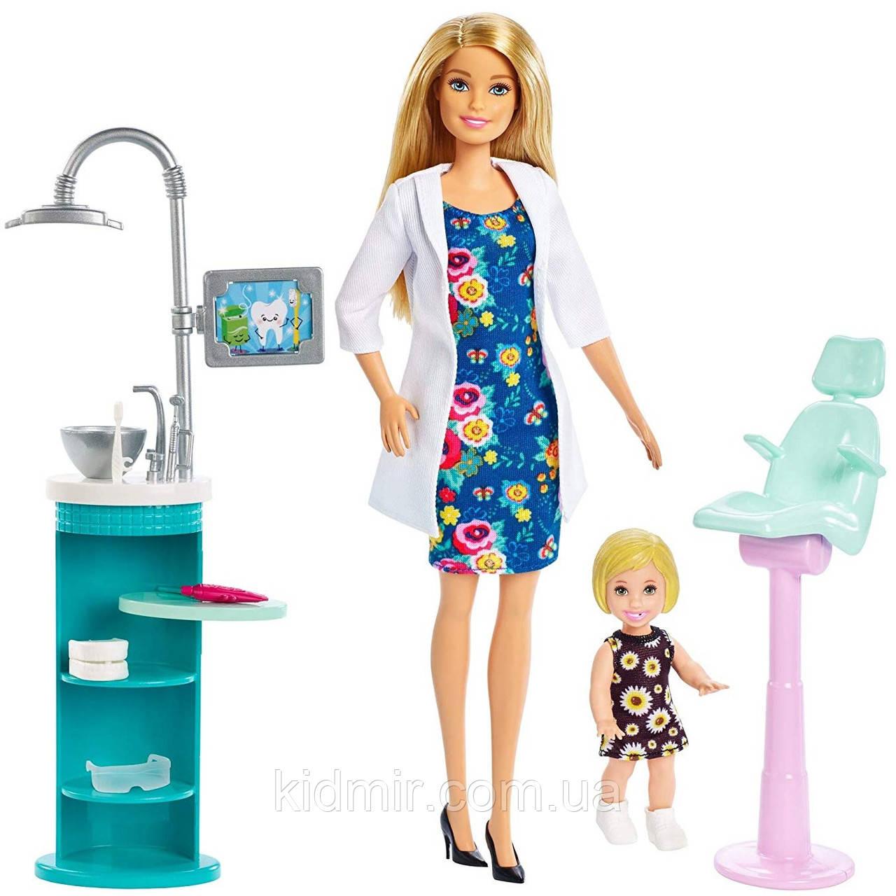 Кукла Барби Дантист Стоматолог Блондинка Barbie Dentist FXP16
