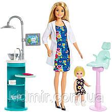 Лялька Барбі Дантист Стоматолог Блондинка Barbie Dentist FXP16