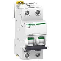 Автоматичний вимикач 2P 0,5 A C Acti9 Schneider Electric iC60N A9F74270