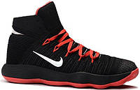 Баскетбольные кроссовки  Nike HyperDunk 2017 Flyknit black-red