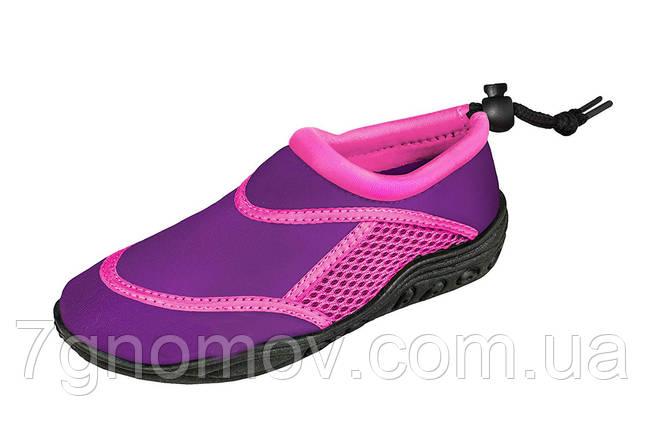 Аквашузы, тапочки для кораллов, обувь для плавания, серфинга, сплавов Seashoes Violet, фото 2