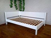 """Белая двуспальная кровать из массива дерева """"Шанталь"""""""
