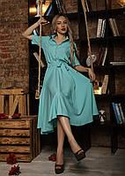 Яркое летнее платье - рубашка на пуговицах
