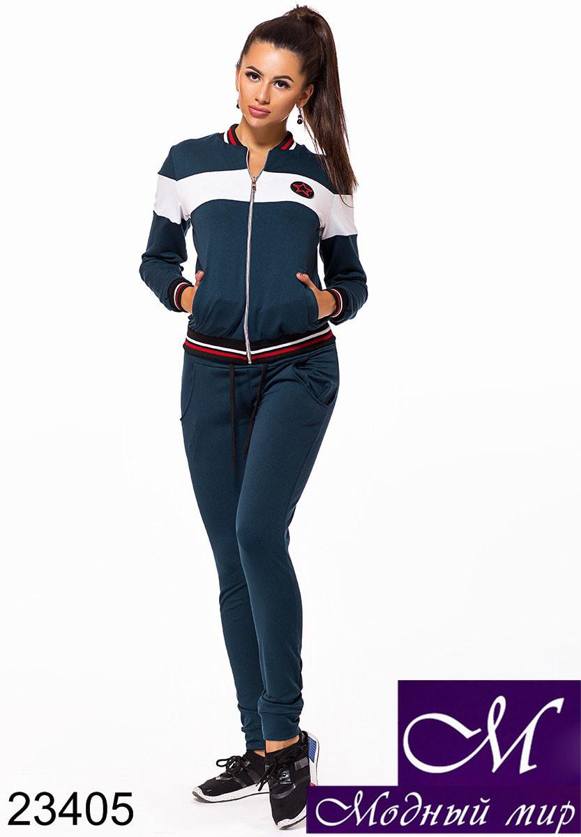 Женский темно-синий спортивный костюм без капюшона (р. S, M, L) арт. 23405