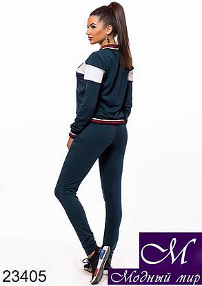 Женский темно-синий спортивный костюм без капюшона (р. S, M, L) арт. 23405, фото 2