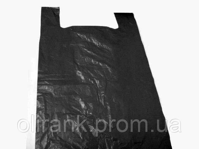 Майка БАГАЖНАЯ 50х90  (25шт) 45мк (черная)ДН (10)