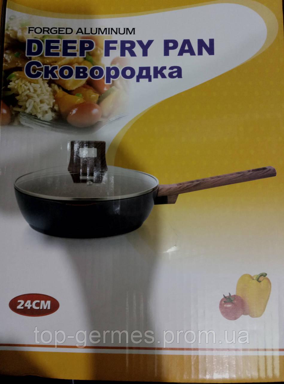 Сковорода глубокая с гранитным покрытием  24см