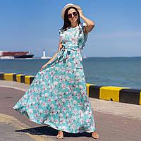 """Довге літнє лляне плаття з квітами """"Іспанія"""""""
