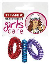 """Зажим для волосся еластичний  """"ANTI ZIEP"""" пласмасовий (3шт.) TITANIA 8530 GIRL"""