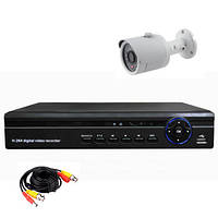 Готовый комплект AHD видеонаблюдения 720P для самостоятельной установки с 1-й уличной камерой