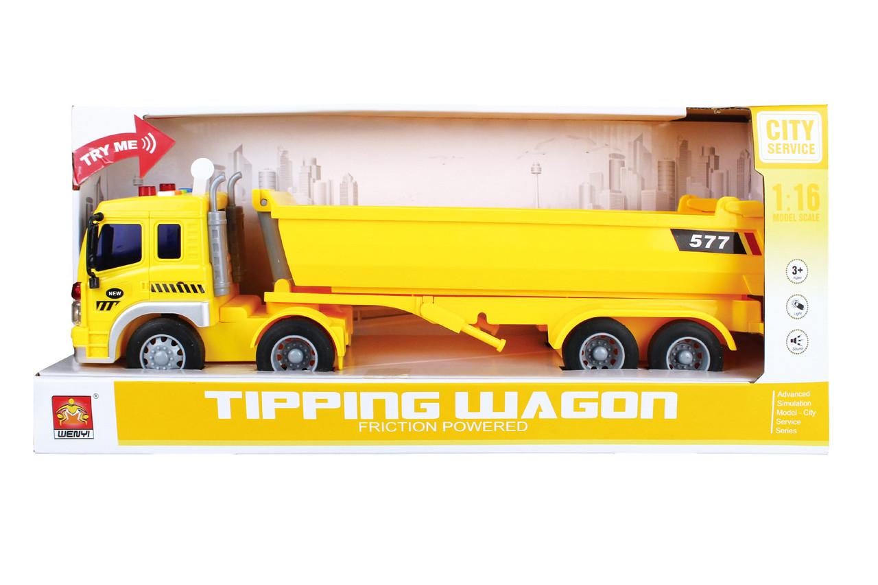 Фрикционная машина грузовик , свет, звук