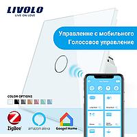 WiFi Сенсорный выключатель Livolo ZigBee белый (VL-C701Z-11)