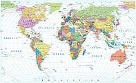 """3D Фотообои """"Карта мира"""""""