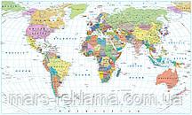 """Фотошпалери """"Мапа світу"""""""