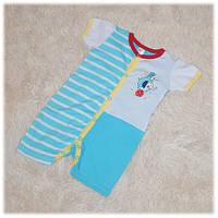 Песочник хлопковый голубого цвета (Украина) ТМ Татошка размер  62