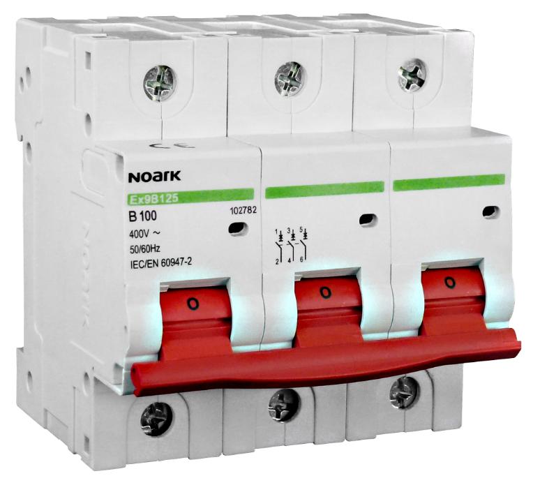 Автоматический выключатель Noark C 100А 3P Ex9B125 102792