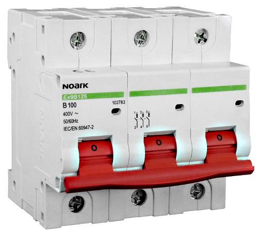 Автоматический выключатель Noark C 100А 3P Ex9B125 102792, фото 2