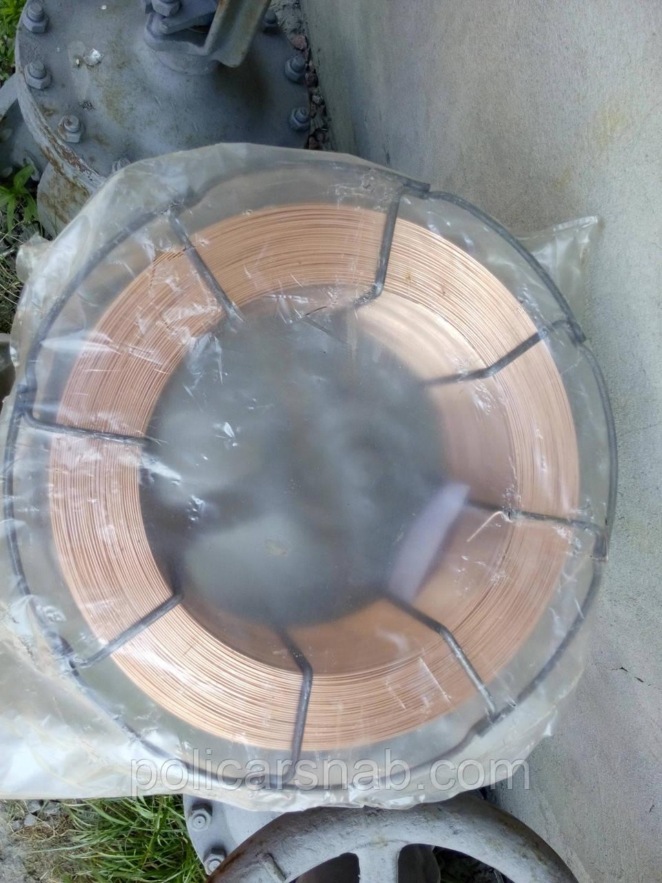 Проволока сварочная омедненная СВ08Г2С ø1,0мм K300 (15кг)