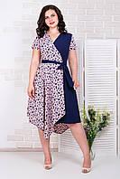 Летнее женское модное платье 50-56 р ( разные цвета )