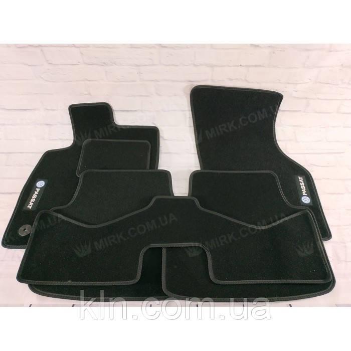 Коврики для салона автомобиля текстильный Volkswagen Passat B8 SD АКП 2014 (5шт) Beltex черный