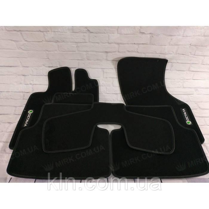 Премиум коврики в салон автомобиля текстильный Skoda Oktavia A7  2013-2019 Beltex черный premium