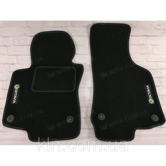 Преміум килимки в салон автомобіля текстильний Skoda Oktavia II A5 2004-2013 Beltex чорний premium