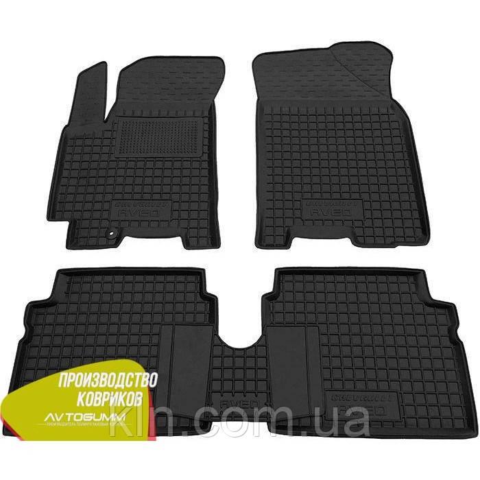 Полиуретановые (резиновые) коврики для салона автомобиля Chevrolet Aveo 2006-2012