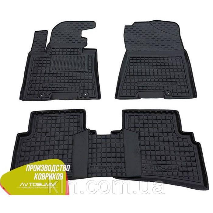 Полиуретановые (резиновые) коврики для салона автомобиля Kia Sportage 4 2016-2019