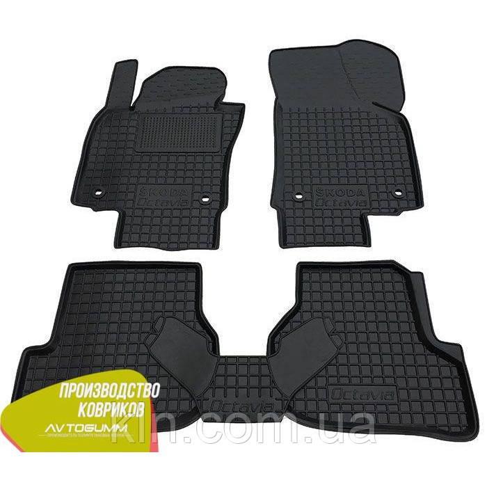 Полиуретановые (резиновые) коврики для салона автомобиля Skoda Oktavia A5 2004-2012