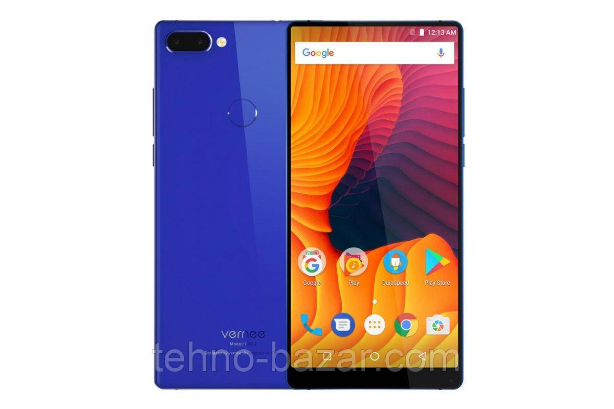 Смартфон Vernee M2 (Mix2) 6/64gb Blue MediaTek Helio P25 4200 мАч