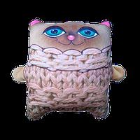 Антистрессовая игрушка-подушка «Кот Зяблик»(велюр), размер: 30*35 см.