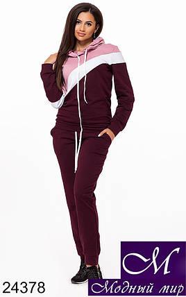 Стильный женский спортивный костюм (р. S, M, L, XL, XXL) арт. 24378, фото 2