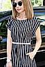 Платье большого размера Мадонна классика полоса, фото 3