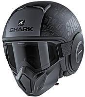 Шолом Shark Street Drak Tribute Rm чорно-сірий матовий, XL, фото 1