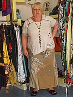 Стильная юбка х/б, фото 1