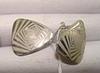 Серьги серебро 925, безкаменка вес 5,42