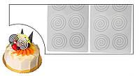 Силиконовая форма Спираль для объемного шоколада, фото 1