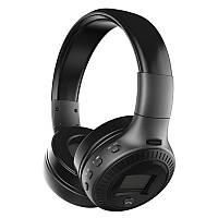 Bluetooth наушники ZEALOT B19 Складные Hi-Fi Стерео Беспроводные С ЖК-Экраном Fm-радио Micro-SD черные