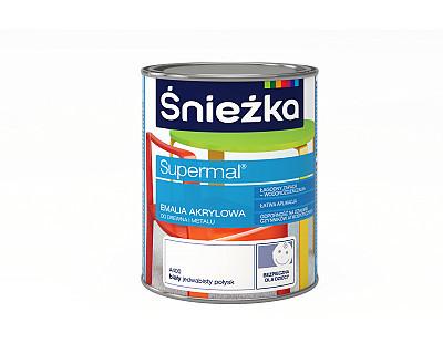 Емаль акрилова Снєжка SUPERMAL БІЛИЙ (шовк глянець), А400,  2,5л