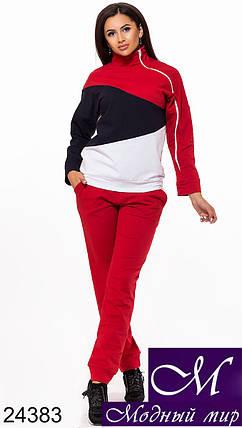 Красный женский спортивный костюм (р. S, M, L) арт. 24383, фото 2