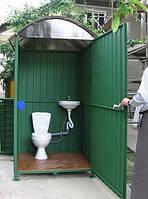 Туалет металлический 1х1х2