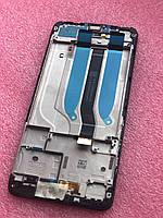 Дисплейный модуль Xiaomi Redmi 6/6А черный (оригинал) с рамкой