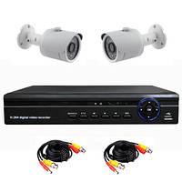 Готовый комплект AHD видеонаблюдения 720P для самостоятельной установки с 2-мя уличными камерами