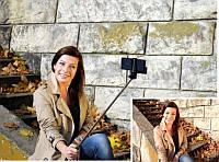 Монопод-штатив для селфи  (iPhone, Andorid) с кнопкой на ручке - купить с доставкой по Украине