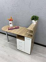 Стол для мастера маникюра с полочками для лаков