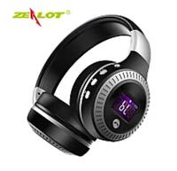 Наушники ZEALOT B19 черные складные Hi-Fi Стерео Беспроводные С ЖК-Экраном Fm-радио Micro-SD черные