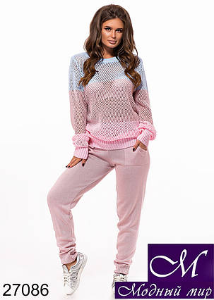 Женский розовый спортивный костюм (р. УН - 42-46) арт. 27086, фото 2