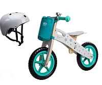 Деревянный велосипед Kinderkraft  Runner Stars + ШЛЕМ БЕЗОПАСНОСТИ, фото 1