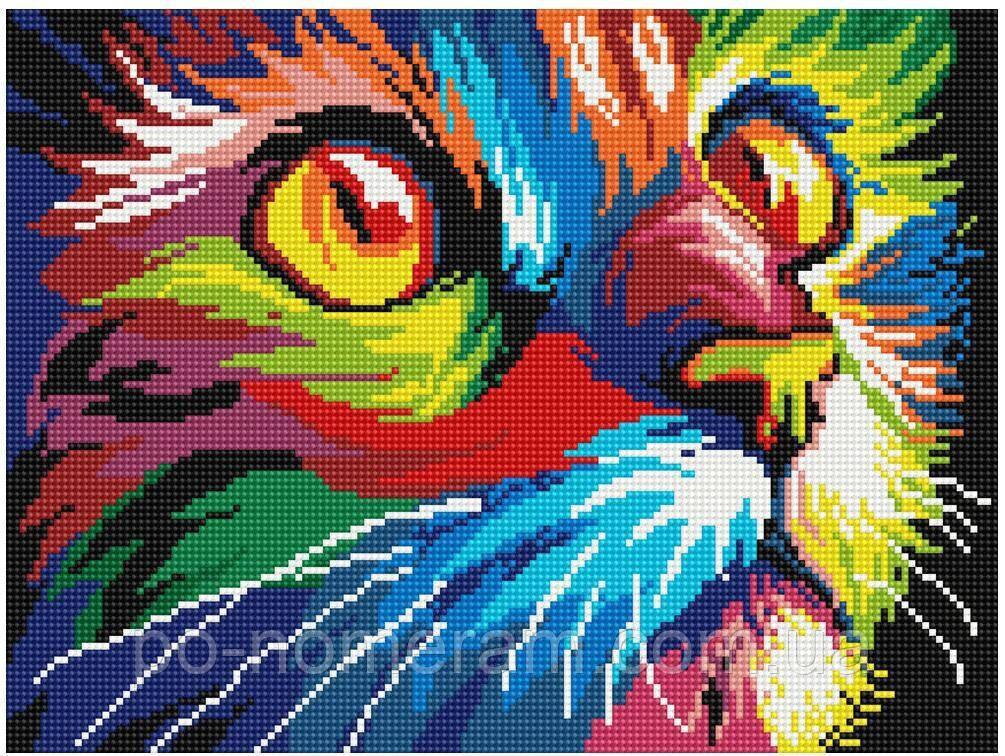 Вышивание камнями Никитошка Радужный кот (EJ564) 30 х 40 см (На подрамнике)